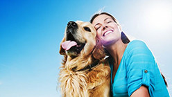 Happy-Woman-With-Dog